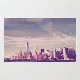 New York City Skyline Waterfront Rug