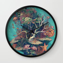 Coral Communities Wall Clock