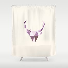 Polydeer in Space Shower Curtain
