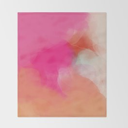 dreamy days in pink peach aquarell Throw Blanket