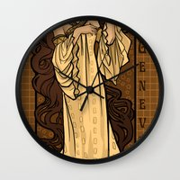 theatre Wall Clocks featuring Theatre in Spacetime by Karen Hallion Illustrations