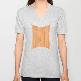 Cool elegant light brown bamboo wood print Unisex V-Neck