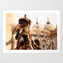 Parade in Grand Canal Riverside, Venice - Italy Art Print