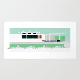 Mid Century Modern House 11: Palm Springs Architecture: Desert Style: Wexler Art Print