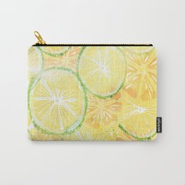 Juicy oranges. Watercolor textured pattern. Carry-All Pouch