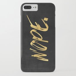 NOPE Copper Gold on Black iPhone Case