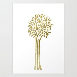 Golden Orange Tree Art Print