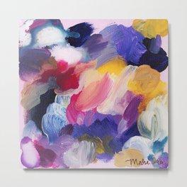 Robbie Abstract Painting Metal Print