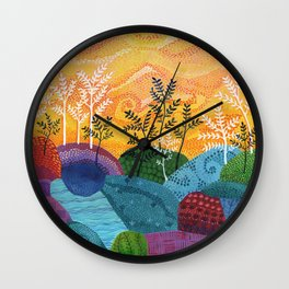 on and on fields Wall Clock