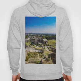 Looking Down at the Entry Courtyard of Golconda Fort and into the City of Hyderabad, India Hoody