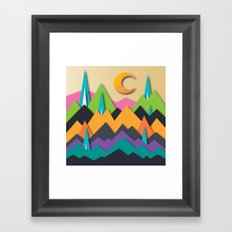 The Glass Mountains Framed Art Print