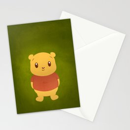 Cute Winnie the Pooh Bear Stationery Cards
