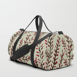 Red bud branches Duffle Bag