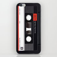 tape iPhone & iPod Skins featuring Old School Tape by Ewan Arnolda
