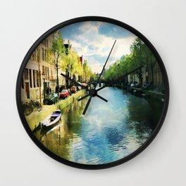 Amsterdam Waterways Wall Clock