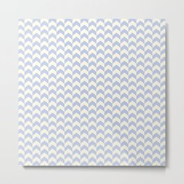 Light Blue Arrow Chevron Pattern Metal Print