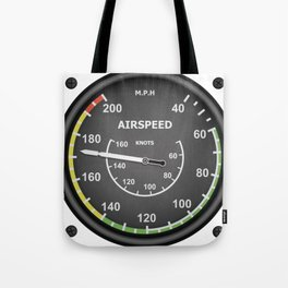 Airspeed Flight Instruments Tote Bag