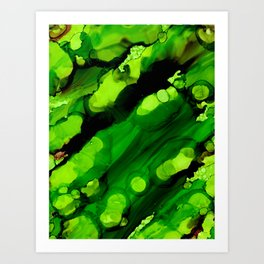 Deep Space Green Art Print