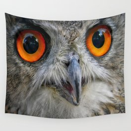 Owl Close up Wall Tapestry
