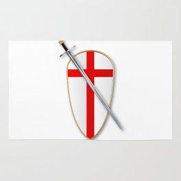 Crusaders Shield and Sword Rug