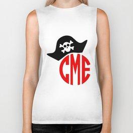 Pirate hat monogram boys SVG instant download design pirate Biker Tank