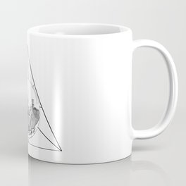 GRAPHIC Geometric. Shape Gray New York in a Bottle Coffee Mug
