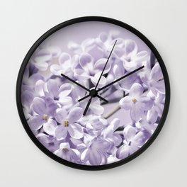 Lilacs  0107 Wall Clock