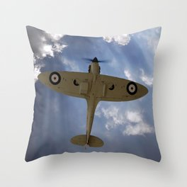 Aces High - Spitfire Vertical Climb Throw Pillow