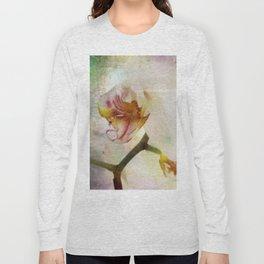 White Phalaenopsis Orchid Long Sleeve T-shirt
