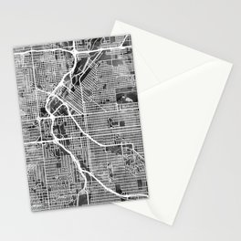 Denver Colorado Street Map Stationery Cards