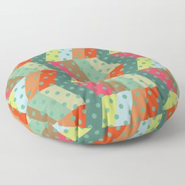 retro pattern and observatory 2 Floor Pillow