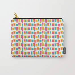 Retro Midcentury Colorful Blocks Carry-All Pouch