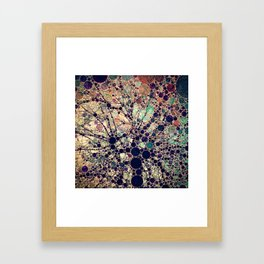 Colorful tree loves you and me. Framed Art Print