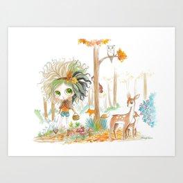 Nikki & Friends - Blythe Doll Inspiration Art Print