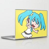 vocaloid Laptop & iPad Skins featuring Miku Miku by tees4weebs
