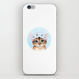 Spring cat iPhone Skin