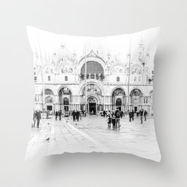 Piazza San Marco, Venice (Italy) Throw Pillow