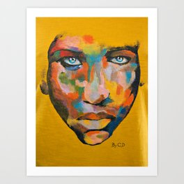 Colored Face Art Print
