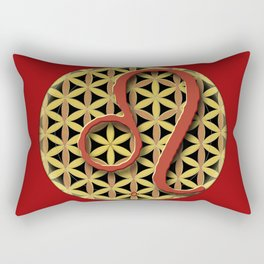 Flower of Life LEO Astrology Design Rectangular Pillow