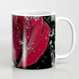 Grunge red rose Coffee Mug