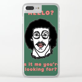 Hello? Is it me you're looking for? Clear iPhone Case