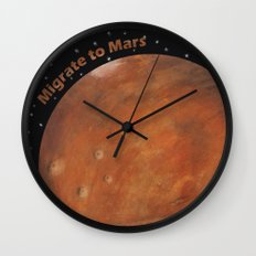 Migrate To Mars Wall Clock