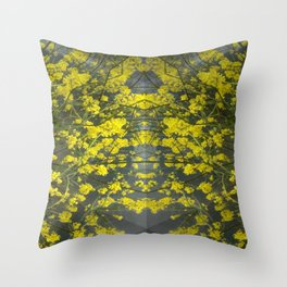 Mustard Rising Throw Pillow