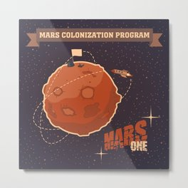 Mars colonization project Metal Print