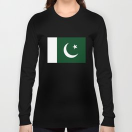 The National Flag of Pakistan - Authentic Version Long Sleeve T-shirt