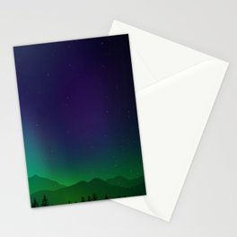 Aurora Synthwave #9 Stationery Cards