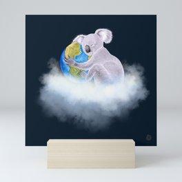 Koala in Heaven - Climate Change Awareness Mini Art Print