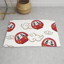 Cute Daruma Pattern Rug