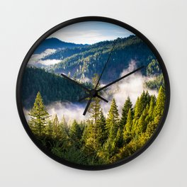 Smoke on the Mountains Wall Clock