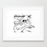 breathe Framed Art Prints featuring Breathe by MrCapdevila / Bingo